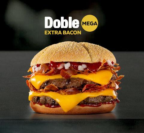 Mega Doble Extra Bacon Mostaza