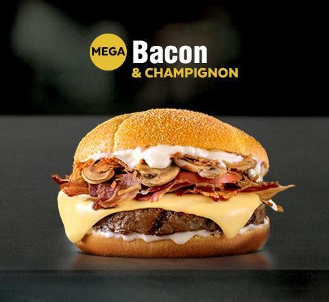 Mega XL Bacon & Champignon Mostaza