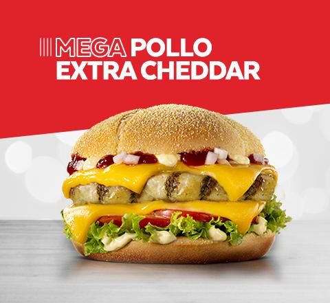 Mega Pollo Extra Cheddar